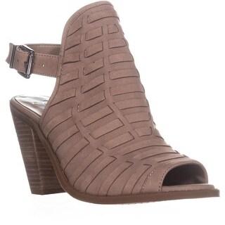 Jessica Simpson Celinna Mule Heel Strap Sandals , Warm Taupe - 9 us / 39 eu