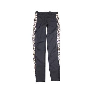 Guess Black Animal-Print Yoga Pants S