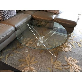 Charmant Shop Furniture Of America Leras Contemporary Clear Acrylic Glass Top Round  Coffee Table   Free Shipping Today   Overstock.com   15289747