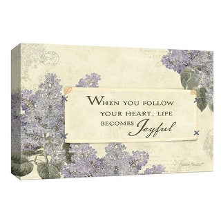"PTM Images 9-153816  PTM Canvas Collection 8"" x 10"" - ""Floral Inspiration II"" Giclee Sayings & Quotes Art Print on Canvas"