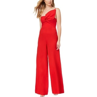Fame And Partners Womens Jumpsuit Bow Twist Front