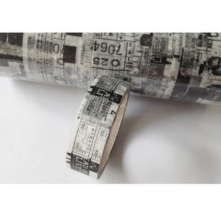 Black & White Type - Love My Tapes Washi Tape 15mmX5m (3 pack)