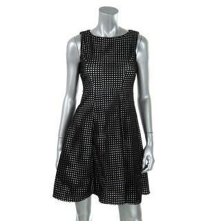 Calvin Klein Womens Petites Laser Cut Sleeveless Wear to Work Dress