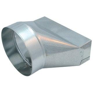 """Air King TR7-10 7"""" Round Galvanized Steel Universal Boot Transition for Select Air King Models"""