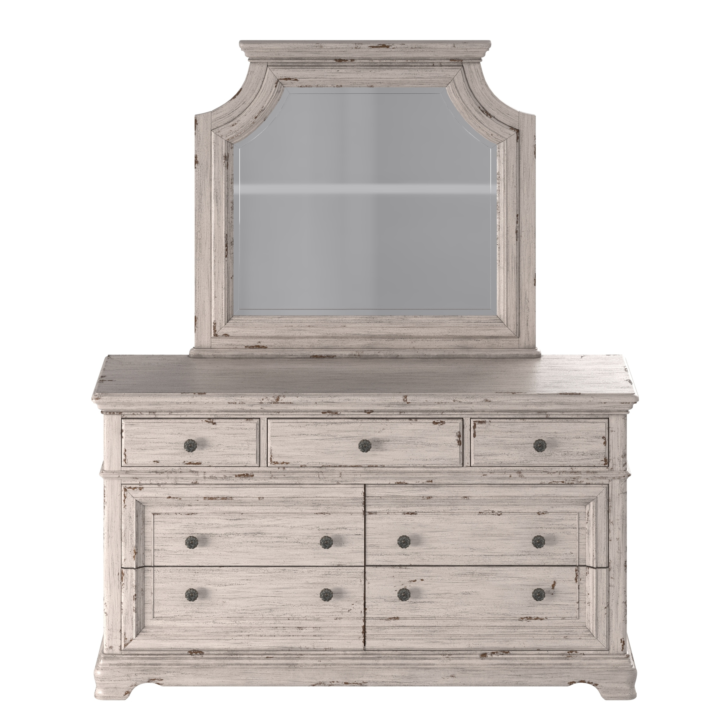 Picture of: Shop Palisade 4 Piece Distressed Antique White Bedroom Set By Greyson Living Overstock 31256848