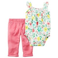 Carter's Baby Girls' 2-Piece Bodysuit Pant Set, 6 Months