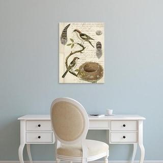 Easy Art Prints Vision Studio's 'Avian Journal I' Premium Canvas Art