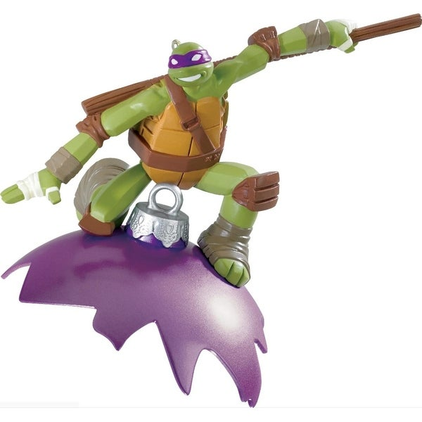 "3.75"" Carlton Cards Heirloom Teenage Mutant Ninja Turtles Donatello Christmas Ornament"