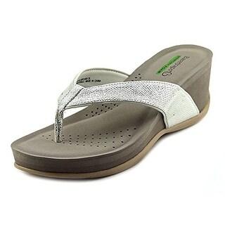 Baretraps Gammie Women Open Toe Synthetic Silver Wedge Sandal