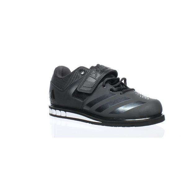 6189a204531b24 Shop Adidas Mens Ba8019 Black Weightlifting Shoes Size 4 - On Sale ...