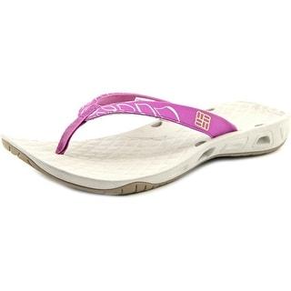 Columbia Sunbreeze Vent Flip Women Open Toe Synthetic Purple Flip Flop Sandal