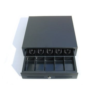 2xhome - Heavy Duty 12v POS Black Cash Drawer RJ-11 Phone-Jack - Printer Compatible