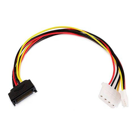 Monoprice 12inch SATA 15pin Male to 4pin Molex and 4pin Power Cable