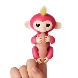 WowWee Fingerlings Interactive Baby Monkey Toy: Bella (Pink) - multi