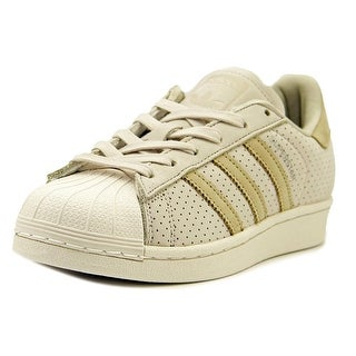 Adidas Super Star Fashion Youth Round Toe Leather Tan Sneakers