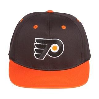 Philadelphia Flyers Black/Orange Snapback Adjustable Plastic Hat / Cap