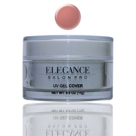 Elegance Salon Pro UV Gel Cover 0.5oz (15g) One Phase Professional Salon Quality Self-Levelling