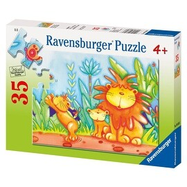 Ravensburger Adorable Lions 35 Pieces Puzzle - Yellow - 12.0 in. x 9.0 in.