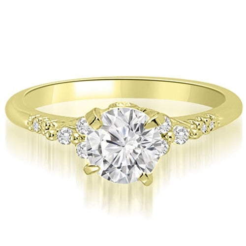 0.70 cttw. 14K Yellow Gold Round Cut Diamond Engagement Ring