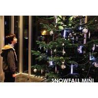 "Snowfall - Starter Set of 5 Single-Sided 6"" LED Christmas Icicle Light Tubes"