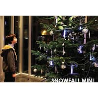 "Snowfall - Starter Set of 5 Single-Sided 7"" LED Christmas Icicle Light Tubes"