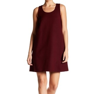Theory NEW Red Women's Size Small S Scoop-Neck Solid Shift Dress
