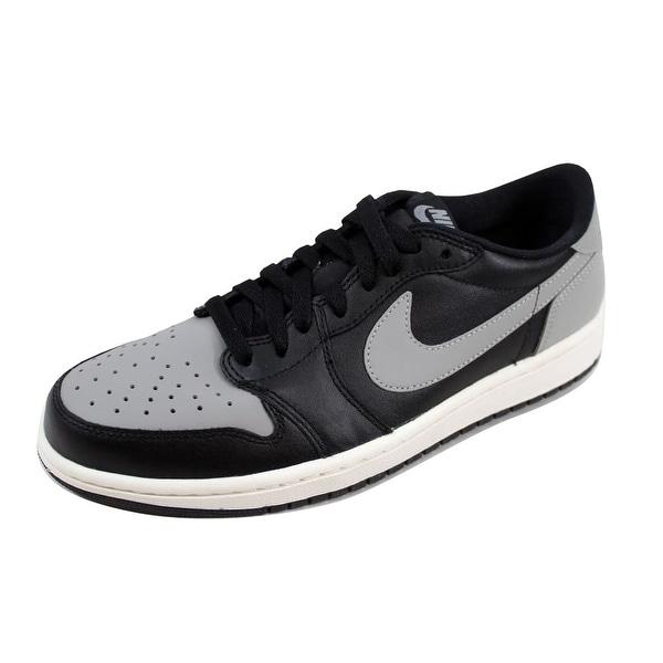 7e5c61f9da10 Shop Nike Men s Air Jordan I 1 Retro Low OG Black Medium Grey-Sail ...
