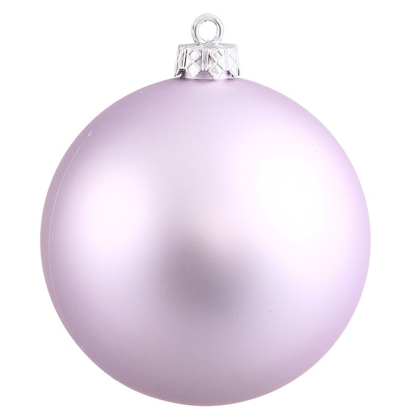 "4"" Lavender Matte Ball UV Drilled 6/Bag"