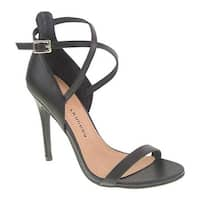 Chinese Laundry Women's Lavelle Sandal Black Soft Calf