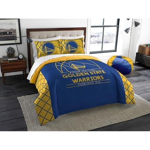 NBA 849 Warriors Reverse Slam F/Q Comforters Set