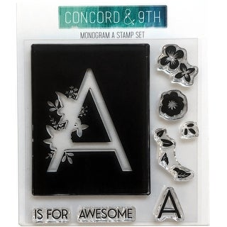 """Concord & 9Th Clear Stamps 4""""X4""""-Monogram A"""