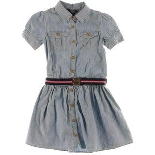 Ralph Lauren Girls Chambray Casual Dress