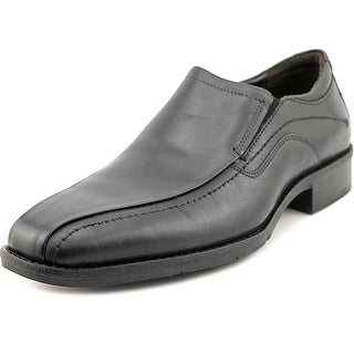 Johnston & Murphy Larsey Run Off Moc Venetian Men  Leather Black Loafer