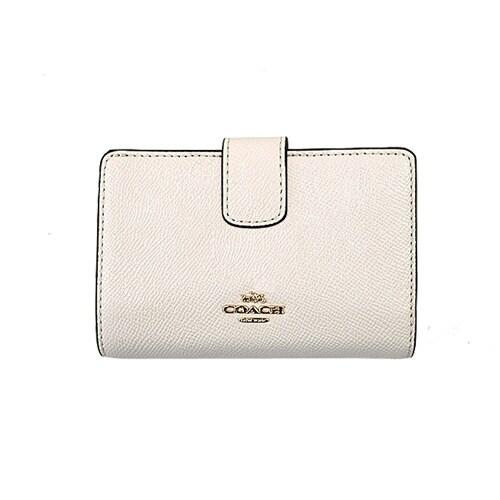 45c3230e Coach Crossgrain Leather Medium Corner Zip Wallet