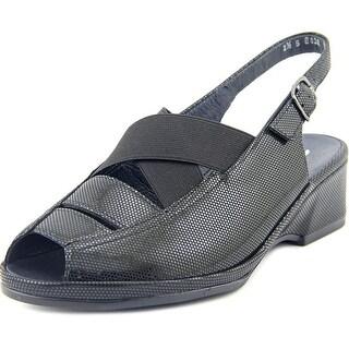 Ara Rumor Women Peep-Toe Leather Slingback Heel