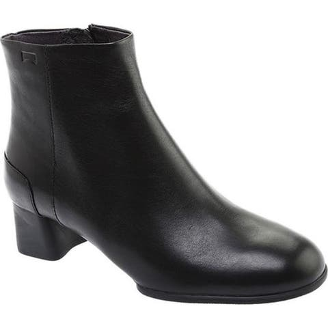 Camper Women's Katie Ankle Boot Black Smooth Leather