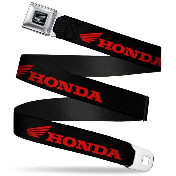 Honda Motorcycle Black Silver Honda Wing Logo Black Red Seatbelt Belt Seatbelt Belt