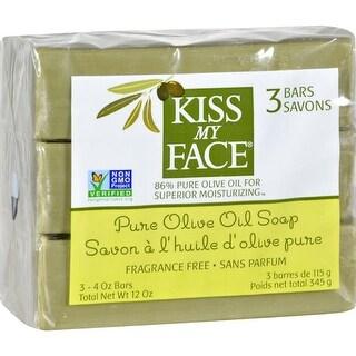 Kiss My Face - Pure Olive Oil Moisturizing  Bar Oap ( 2 - 3-4 OZ)