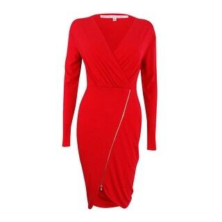 RACHEL Rachel Roy Women's Long Sleeve Asymmetrical Dress