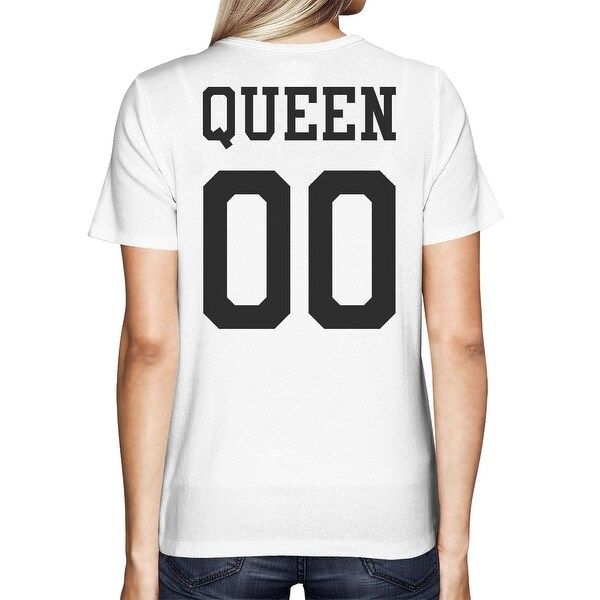 Queen 00 Back Number White Couple Tshirt Perfect For Couple Trip