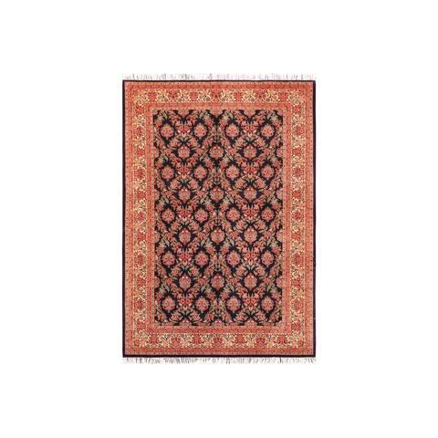 "Gulab Pak-Persian Shantae Blue/Ivory Wool Rug (6'0 x 9'1) - 6'0"" x 9'1"""