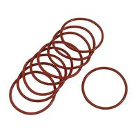Unique Bargains 10 Pieces 46mmx 2.5mm Rubber O-ring Oil Seal Sealing Ring Gaskets Red