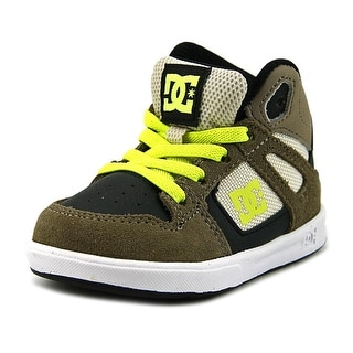 DC Shoes Rebound UL Toddler Round Toe Leather Tan Skate Shoe