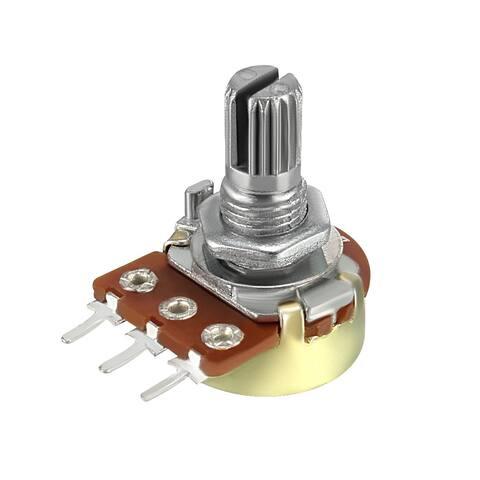 WH148 10K Ohm Variable Resistors Single Turn Rotary Carbon Taper Potentiometer