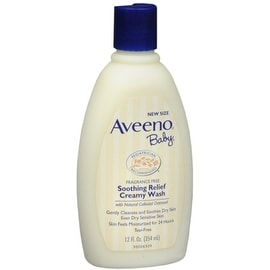 AVEENO Baby Fragrance Free Soothing Relief Creamy Wash 12 oz