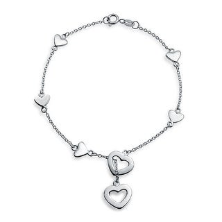 Bling Jewelry 925 Sterling Silver Heart Charm Lariat Bracelet 7in|https://ak1.ostkcdn.com/images/products/is/images/direct/c03ad1c4e6d9203358564d735a07aaf301871d73/Bling-Jewelry-925-Sterling-Silver-Heart-Charm-Lariat-Bracelet-7in.jpg?_ostk_perf_=percv&impolicy=medium