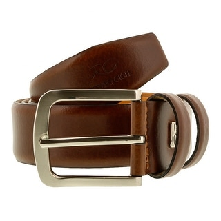 Romeo Gigli C855/35S Brown Leather Adjustable Mens Belt