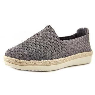 Easy Spirit Oakes Women Round Toe Canvas Gray Espadrille