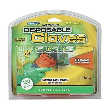 Camco Sanitation Gloves With Dispenser Rv Pair - Green