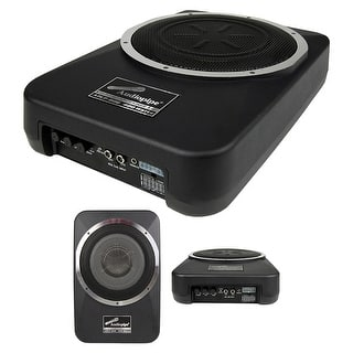 "Audiopipe Amplified 8"" Active Enclosed Low Profile Subwoofer System